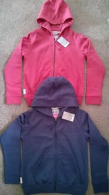 girls NEXT hooded tops jackets hoodies x2 pink & navy age 10 yrs NWT