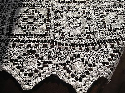 Antique hand made lace tablecloth