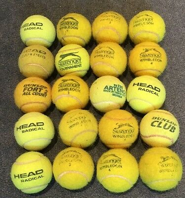20 Tennis Balls -used- Ideal for Tennis Practice Or Dogs