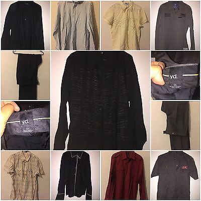 Bulk Lot Men's sz 34/Medium And Large Clothes.9 Shirts And 2 Pants.