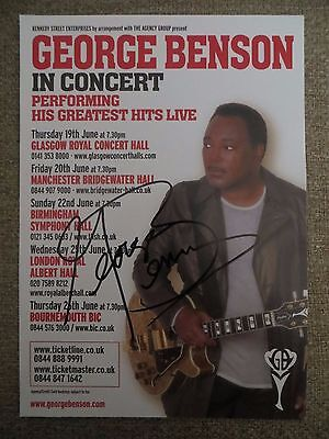 George Benson Authentic Hand Signed Tour Flyer