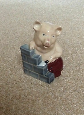 Wade Membership Piece 1995 - Three Little Pigs House of Brick Pig Rare & Perfect