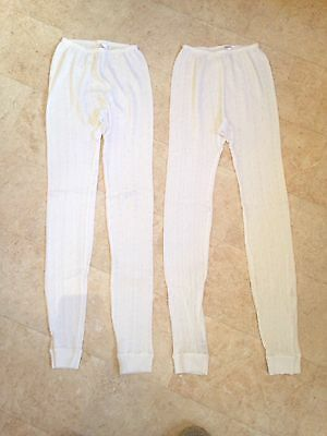 Bundle x2 Thermal Under-Layers Leggins Bottoms In Good Condition Size Uk 10