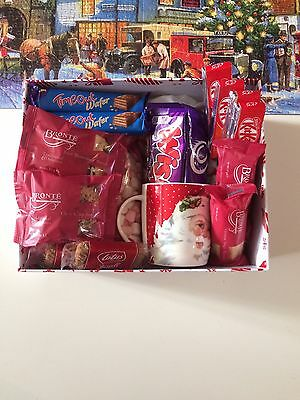 Christmas Cadbury Drinking Chocolate Biscuit Hamper Selection Gift Box Present