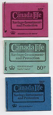 Gb 3 Stamp Booklets ~ Canada Life Cover ~ No Stamps    ( A )
