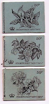 Gb 3 Stamp Booklets  ~  No Stamps    ( D)