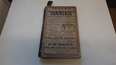 1868 Albany New York Directory Genealogy, Great Ads, Fold Out Map