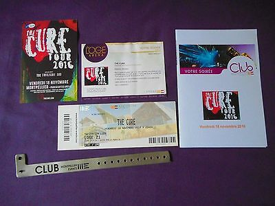 The Cure Lot Vip + Reproduction Copie Pass Concert Working 2016