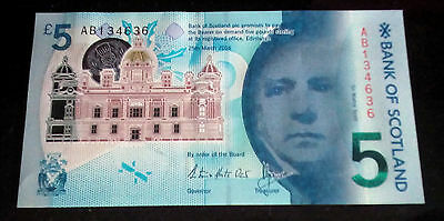 Bank of Scotland - £5 Polymer Note AB13