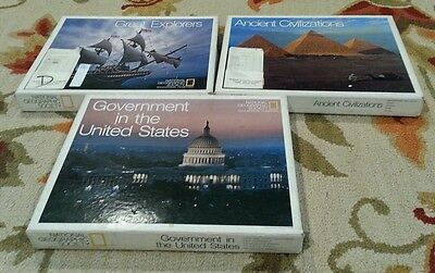 National Geographic Educational Filmstrips 1978 1976 Great Explorers Government