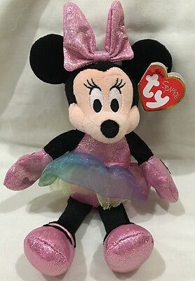 Disney Mini Mouse Sparkling Ty Doll New With Tag!
