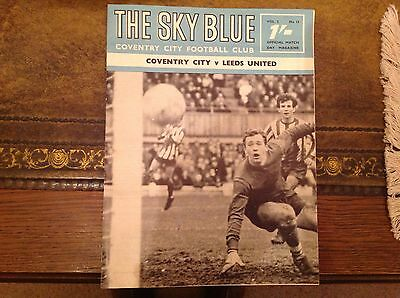 Coventry City Official Programme v Leeds 16/11/68