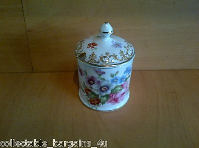 Crown Staffordshire Mustard Pot Jar Vintage Fine Bone China