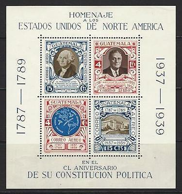 GUATEMALA Sc C92 AMERICAN CONSTITUTION 1938 MINT NH