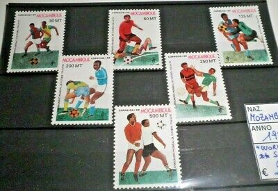 "Francobolli Stamps Mozambique 1989 ""world Cup / Football"" Mnh** Set (Cat.5)"