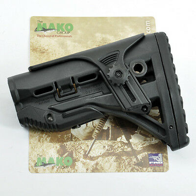 Airsoft RECOIL-REDUCING Shock Absorbing Butt Stock Dark Earth or Black