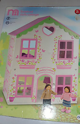 Mothercare Rosebud Cottage Dolls House -  New Box Rrp £50 includes furniture