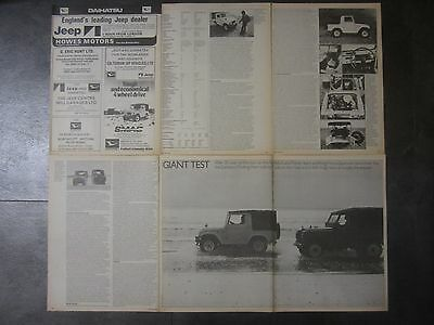 Daihatsu Jeep F20 4x4 1978 R.Test & Subaru 4WD Estate 1978-82 Adverts/ SVX & GFT