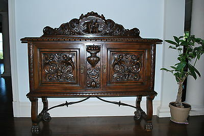 Antique French sideboard buffet 1900's Louis XIII,XIV, XV, XVI