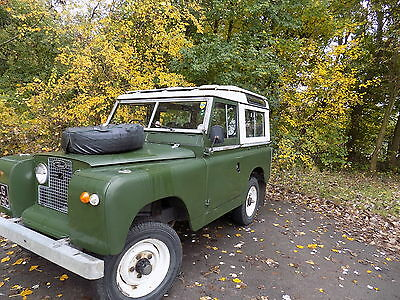 "Land Rover 88"" Series 11A  Galvanised chassis and bulkhead sarari roof  7 seater"