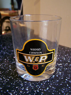 W & P whisky glass tumbler pub home bar mancave