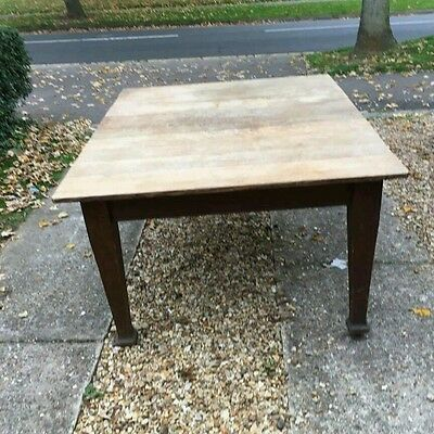 Antique extending dining table and 6 chairs