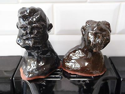 Early 60s - Rare Troika caricature busts  of Politians Eden and Macmillan