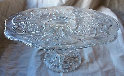 Beautiful Eapg Imperial Glass Daisy And Button Ohio Cake Pedestal Exc Cond