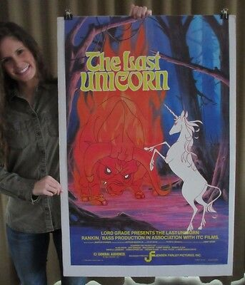 LAST UNICORN ('82) 25x39 - Animated Version Of Peter S. Beagle's Famous Fable!