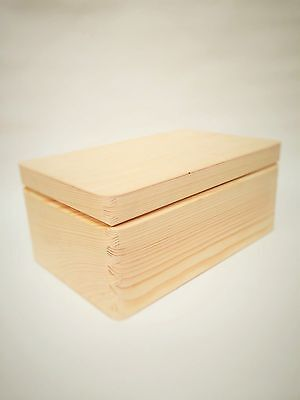 Plain Unpainted Natural Wooden Tool Storage Box Memory Chest Craft Christmas Eve