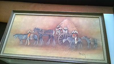 Large Quirky Vintage Boots Donkey Print  ~ Colin Paynton ~ The Haywagon