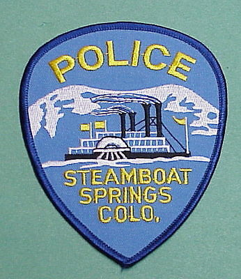 Steamboat Springs  Colorado  Co  Police Patch   Free Shipping!!!