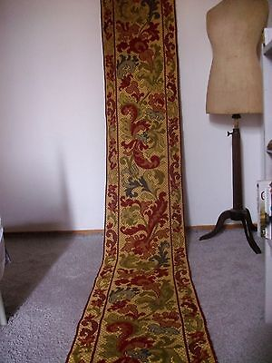 FABULOUS FRENCH ANTIQUE PORTIERE  WALL PANEL WOVEN WOOL TAPESTRY 10FT.1 (308cm)