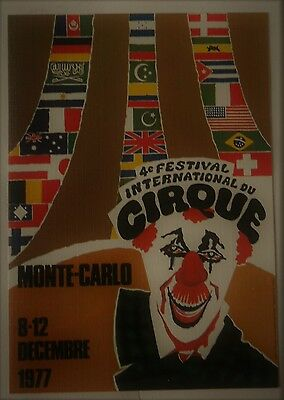 CARTE POSTALE 4e FESTIVAL INTERNATIONALE DU CIRQUE MONTE - CARLO 12/1977