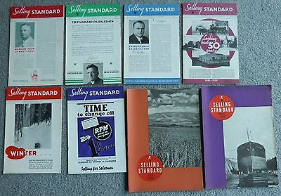 Standard Oil of California  Selling Standard Magazine 1934-1940  8 Issues