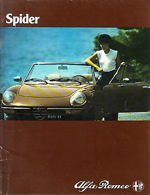 catalogue ALFA ROMEO SPIDER - 1980 - Depliant - Brochure