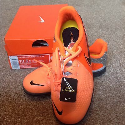 New Boxed Nike Jr Ctr360 Libretto Iii Tf Football Trainer Size Uk 4.5