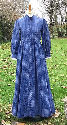 VINTAGE LAURA ASHLEY 1970s PRAIRIE BOHO DRESS. MADE IN WALES LABEL. SIZE 12
