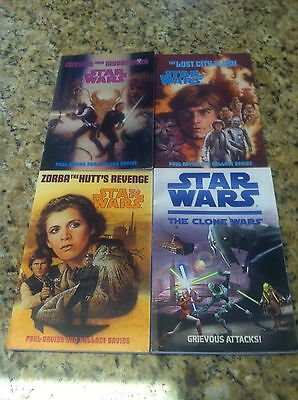 star wars paul davids Hollace The Clone Wars chapter book lot 2 3 4 AR kids used
