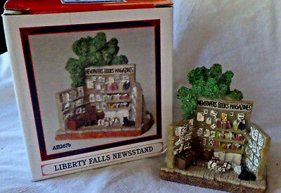 "Liberty Falls~Paper ""newsstand"" Christmas Western Snow Village Figurine"