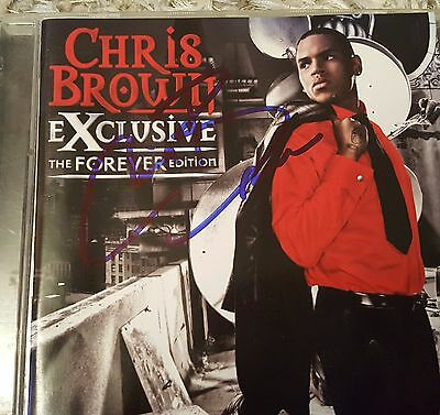 Chris Brown Hand Signed Cd Album - Exclusive - Rare - Autographed