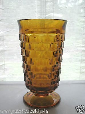Indiana Colony Glass Amber Whitehall 14 oz Tumbler