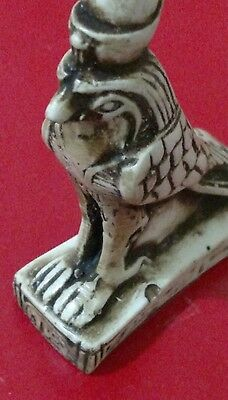 Egyptian Antique, HORUS symbol of Protection, Curved Stone 92 mm, 76 g