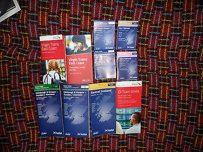 Joblot Scottish  Railway Time Tables In Mint / Unused Condition****