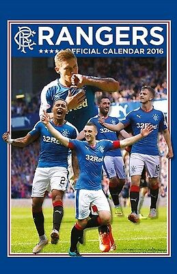 Rangers FC Official Wall Calendar 2016 (New & Sealed)