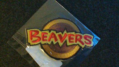 Beaver Scout Campfire Blanket Cloth Badge Patch NEW