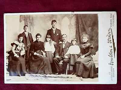 Family Portrait - Large Cabinet Card Antique Photograph Old RARE