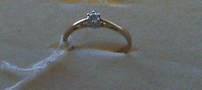9K Gold And Diamond Ring Size K