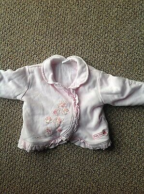 Zip Zap baby girls pink jacket age 3-6 months