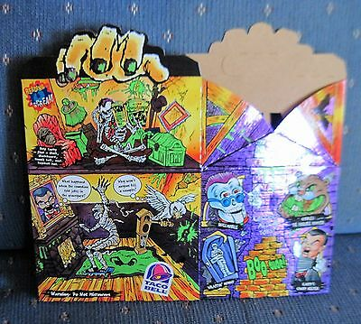 Taco Bell 1996 Haunted House Foil Box - Goosebumps Toy Premiums